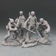 4 brothers miniatures figures tabletop tmnt mutant
