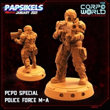 pcpd special police force m-a miniature force cyberpunk police swat