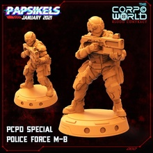 pcpd special police force m-b soldier miniature cyberpunk elite squad swat