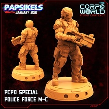 pcpd special police force m-c miniature cyberpunk police swat