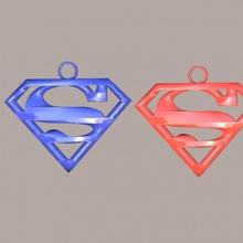 Superman boucles d'oreilles pendentif merveille dc Superman boucles d'oreilles boucle d'oreille super héros idealab