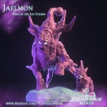jaelmon König Eis Golems Tier Kreatur Golem König Monster Winter Schnee Eis Frost jaelmon