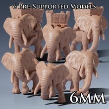 6mm selvagem guerra elefantes loja antigo animal criatura grego monstro romano guerra selvagem elefante ampla imenso africano 6mm