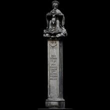 protector cruzar escanear columna cruzar estatua 3dprintable cc0