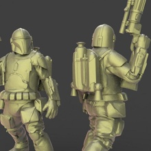 caçador Estrela miniatura guerras boba fett legião