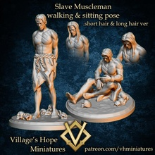 slave muscleman capture muscleman walk& sit pose store rpg muscle dnd slave npc ttrpg townfolk macho townfolks trpg captured muscleman