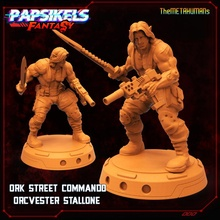 ork street commando orcvester stallone toys & games orc ork street cyberpunk samurai stallone rambo commando shadowrun silvester