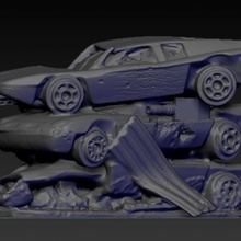 pila distrutto macchine gioco mini miniature macchine tavolo apocalisse supporti cavo scenario gaslands presupposto supportato junkyard terre desolate relitti Permanentnerddamage