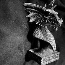 Brodick Dragão cabeça fracasso 1 2 jardim fracasso Dragão fantasia cabeça lenda religião Duplo mito Campbell bustos cr83d dragonsandy