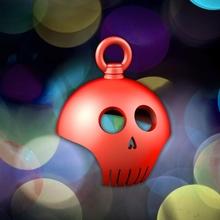 cráneo bola navidad Navidad anatomía pelota hueso dibujos animados gracioso cabeza mono Ciencias esqueleto cráneo dientes árbol Navidad snow muerte muerto Días festivos apoya isla