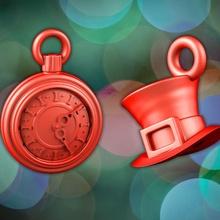 Alicia decoración Navidad reloj sombrero fdm enojado reina mesa Navidad Conejo Alicia contento Días festivos conejito fantástico hada mundo maravilloso cuentos presupuesto