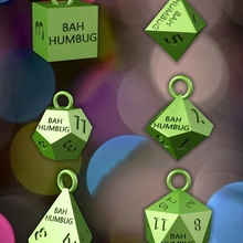 farsante jardín colgante pendiente tarjeta cubo decoración gracioso juego Navidad d20 d6 d12 d10 d4 d8 farsante Navidad
