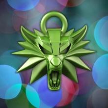 lobo colgante pendiente Navidad nintendo colgante pendiente animal decoración zorro juego nerd jugar videojuego salvaje lobo bruja brujo estación saga depredador netfilx sacudida