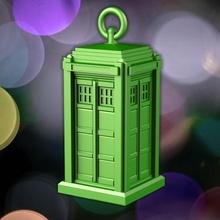 policía cabina decoración ventilador Arte Navidad caja decoración fantasía gracioso juegos Ciencias tardis juguetes árbol Navidad ciencia ficción ficción médico policía hospital