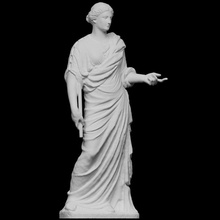 roman marble draped woman scan female figure roman sculpture stone woman marble draped photogrammetry monumental antiquity openglam christies classic-week