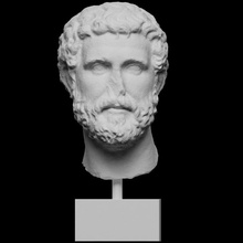 roman marble head man scan 3d printable head man portrait roman sculpture stone marble photogrammetry 3d-printing antonine private-collection openglam christies