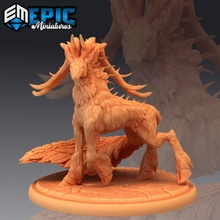deer king walking mythical forest animal legendary stag animal deer fantasy forest king medieval monster mythical rpg warhammer wild stag enemy tabletop legendary walking dungeon dnd pathfinder feathered