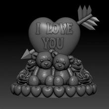 Liebe valentine Bär Herzen Rosen Garten Pfeil Bär niedlich Geschenk Herz Herzen Rose Valentinstag bezaubernd Valentinstag