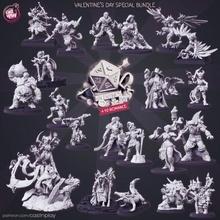 Saint Valentin journée paquet pre supported jouets Jeux dragons donjons fantaisie l'amour Valentin valentines journée 14 dnd relation amicale février castnplay