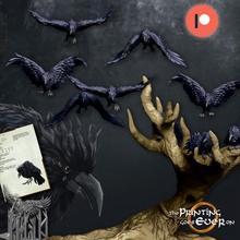 uğursuz ağaç kuzgun casuslar önceden desteklenen oyuncaklar oyunlar kuş karga fantezi korku kuzgun korkutucu arazi ağaç Warhammer minyatür lotr uçan masaüstü diyorama dnd tanıdık pre supported