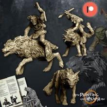 goblin warg riders bundle - presupported toys & games archer goblin leader orc ork warhammer wolf lotr evil enemy pack rider wolves dnd mounted alpha warg pre-supported statblock