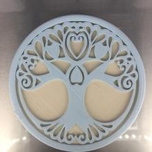 lovetree verre Coaster cœur cœurs l'amour Valentin verre Saint Valentin idealab celtic tree lovetree