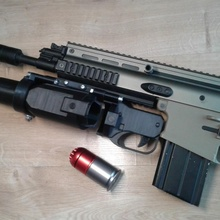at-02 airsoft 40mm under-barrel grenade launcher props & cosplay airsoft asg