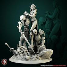 diyorama Laedria büyücü iskeletler pre supported oyuncaklar oyunlar fantezi kadın oyun yüksek detay rpg masaüstü diyorama savaş oyunu dnd yol bulucu ttrpg dndcharacter
