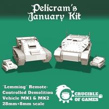 lemming demolition vehicle mk1&mk2 toys & games 40k figurine guard sci-fi tank vehicle warhammer demolition imperial cyberpunk wargame cyclops 28mm 6mm astra battletech militarum 8mm 40000 pre-supported
