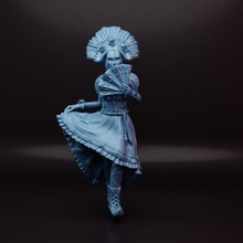 arrugginito corvi inarra giocattoli Giochi vestito divertimento ragazza maschera warhammer donna lama necromunda 32mm 75mm arrugginito corvi