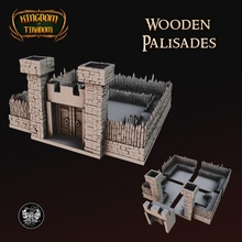 legno palizzate giocattoli Giochi recinzione kickstarter medievale modulare impostato parete cancello villaggio legno 28mm 32mm mo sbarcare palizzate palizzate legno staccionata in legno