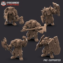 black orc melee units toys & games axe black dragon dungeons fighter orc shield warhammer warrior