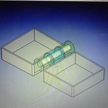 caja peque bisagra se imprime una vez anillo caja bisagra moneda dise diente