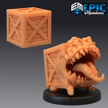 mimic crate container monster classic box trap toys & games box city classic container fantasy medieval monster rpg warhammer wood enemy tabletop trap dungeon encounter dnd crate pathfinder mimic npc