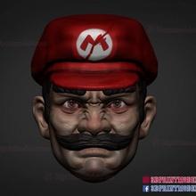 mario head 3d print model costume game head monster toys figures super custom mushroom custom-figures mario-head figures-head