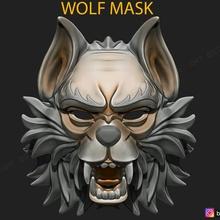 wolf mask - japanese samurai mask - oni tiger mask - halloween helmet cosplay tiger-mask devil-mask japanese-mask demon-mask oni-mask japanese-oni-mask samurai-mask wolf-mask animal-mask wolf-mask-stl wolf-cosplay wolf-head wolf-face old-wolf-mask japan-samurai-mask animal-head-mask wolf-toys