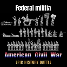 federal militia - epic history battle american civil war -15mm scale education battle epic figurine history war miniature american wargame 15mm eskice civil milice militia acw rale federal