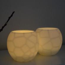 furtive shroud tealight holder - voronoi & garden light lighting voronoi tealight decor procedural math art infill art