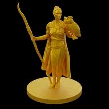 elf druid toys & games elf female owl wizard staff mage sorceress druid sorcerer drow