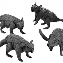 dnd giant dire rats resin miniatures toys & games miniatures miniature rat dungeonsanddragons dnd presupported direrat sewers giantrat sewerencounter