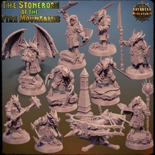 stoneborn mountains - complete pack toys & games dragons dungeons miniature dragonborn tabletop pack bundle 32mm 75mm  daybreak