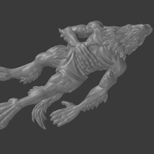dead werewolf dragons dungeons fantasy games roleplay rpg marker tabletop pathfinder casualty
