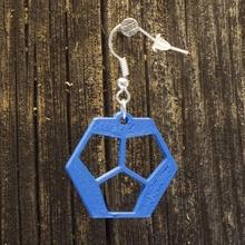 aretes dodecaedro 12 joyería joyería dodecaedro aretes arete