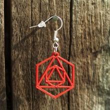 boucles d'oreilles octaèdre 1 bijoux bijoux boucles d'oreilles L'impression 3d Imprimé 3d l'octaèdre