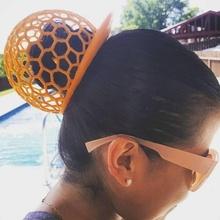 bubble hat fashion & accessories voronoi bubble manbun dreads