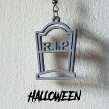 earrings halloween rip 1 jewellery halloween jewellery grave earrings 3d printing 3d printed rip