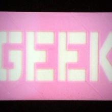 geek card - mathgrrl edition & garden geek geek card