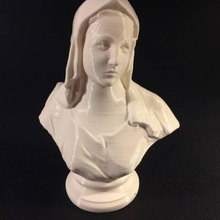 bust choir stall cathedral poz scan bust woman
