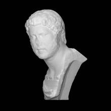 ritratto Adriano scansione ritratto romano Adriano