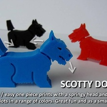 scotty dogz toys & games christmas animal animals creature cute decoration dog fun funny gift model office pet  simple small toy unique household moving designer birthday place creatures sharkz springy crocz dogz printin